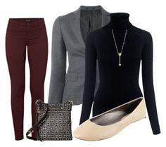 """""""Deep Cabernet"""" by paixfish on Polyvore featuring Tagliatore, M.i.h Jeans, J Brand, EF Collection and Tommy Hilfiger"""