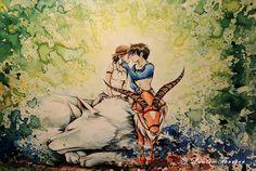 pinturas-acuarela-fanart-estudio-ghibli-louise-terrier (10)
