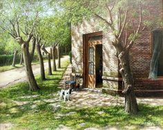 "Luis Nuñez, ""Esperando el patrón"" Rio Grande, Hispanic American, Diego Rivera, Country Scenes, Country Art, Most Visited, South America, Paint Colors, Watercolor Paintings"