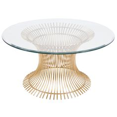 Powell Coffee Table with beveled glass by Worlds Away. Available in small, medium, or large.