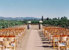 Romantic DIY Napa Valley Wedding at Andretti Winery  Read more - http://www.stylemepretty.com/2014/01/02/romantic-diy-napa-valley-wedding-at-andretti-winery/