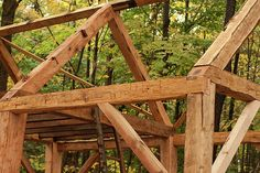 Hand-hewn timber frame