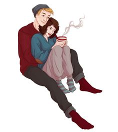 Modern day Peggy & Steve || Peggy Carter, Steve Rogers || by illustratedkate || #fanart #hmsbestgirl