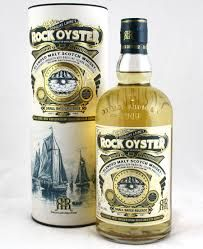 ROCK OYSTER BLENDED MALT: Nose, wind-swept beaches, coastal peat and a hint of ash, complimented by touches of green fruit.  Palate, yet more sea breeze, with oat cake crumbs, growing spicy notes of cracked black pepper and a deft whiff of peat smoke. Hints of vanilla here and there.  Finish, salinity lasts on the finish along with peppery warmth.