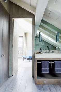 Discover small spaces design ideas on HOUSE - design, food and travel by House & Garden. The design of this small attic bathroom by Todhunter Earle for a chalet in Chamonix, is practically perfect.
