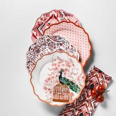 "$12 Melamine Dinner Plates 10.5"" Red/Pink Set of 4 - Opalhouse™ : Target"