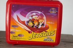 90s Jetsons Red Lunch Box. I WANT IT,