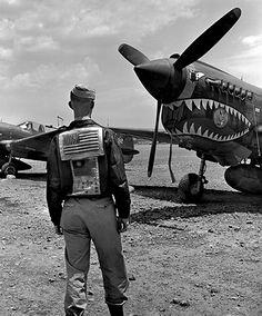 """Flying Tiger"" pilot, China, 1944"
