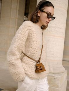 Style Inspiration: Beige is the New Black - Fashion's New Favourite Colour Dior Couture, Beige Color, Colour, Cold Day, Her Style, Favorite Color, Knitwear, Autumn Fashion, Photos