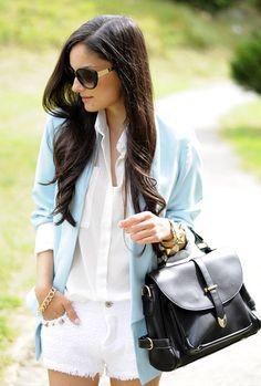 ...blue Soft Blazer...