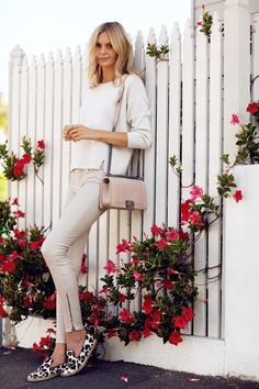 Lust for Leather: @tuulavintage styles her Leather Super Skinny in Powder. #JBRAND #InMyJBRAND