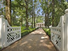 Single Family Home for sales at Extraordinary Plantation Style Estate 2167 Mount Paran Road NW Atlanta, Georgia 30327 United States Driveway Fence, Driveway Entrance, Driveway Ideas, Driveway Design, Front Gates, Entrance Gates, Fence Gates, Fencing, Mount Paran