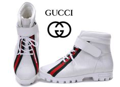 Gucci AAAA High Top Mens Shoes sale white 002