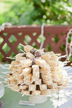 rice krispie treats on a stick