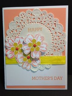 Flower Shop, Petite Petals, Crazy about You, Mother's Day Card, Stampin' Up!, Rubber Stamping, Handmade Cards
