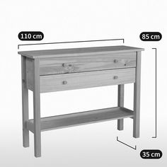 Console pin massif, perrine blanc La Redoute Interieurs | La Redoute Consoles, Petites Tables, Console Table, Furniture, Home Decor, Tall Drawers, Solid Pine, White People, Decoration Home
