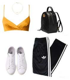 """""""Untitled #5291"""" by lilaclynn ❤ liked on Polyvore featuring adidas Originals, Gucci, adidas and gucci"""