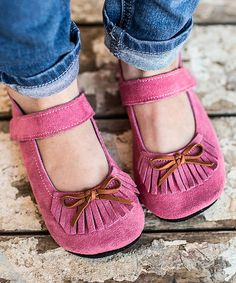 Gracious May Rose Pink Suede Moxie Jane™ Cute Kids Fashion, Little Fashion, Winter Shoes, Flats, Sandals, Soft Suede, Pink Roses, Moccasins, Cozy