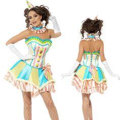 Halloween clown girl's party Fancy Dress Cosplay Costume