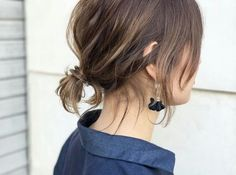 Short ponytail Source by Hair Inspo, Hair Inspiration, Medium Hair Styles, Short Hair Styles, Short Hair Ponytail, Hair Updo, Hair Arrange, Haircut For Thick Hair, Hair Affair