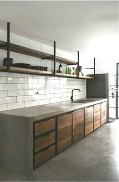 25 Wonderful Industrial Kitchen Ideas That. If you are looking for Industrial Kitchen Ideas That, You come to the right place. Below are the Industrial Kitchen Ideas That. This post about Industrial . Rustic Industrial Decor, Industrial Interior Design, Industrial Living, Industrial Interiors, Interior Design Kitchen, Industrial Style, Rustic Luxe, Industrial Shelves, Interior Plants