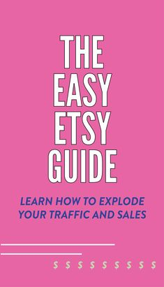 Learn how to use etsy to explode your traffic and sales with the Easy Etsy Guide! everything you need to grow your etsy shop, understand the Etsy SEO, and how to get found on Etsy. Etsy Business, Business Help, Starting A Business, Online Marketing, Inbound Marketing, Media Marketing, Etsy Seo, Pinterest For Business, Make More Money