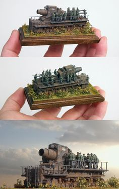 """Karl"" scale 1:144 2inchesX4inches... amazing miniature detail. #Diorama"