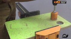 CMT hole saw 550 on melamine chipboard