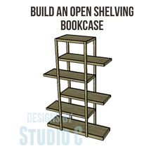 Build an Open Shelving Bookcase - a great weekend project!