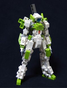 Lego Mecha Robot Green & White