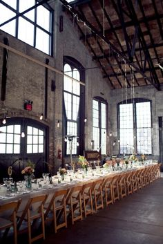 industrial new york wedding reception // photo by Isabelle Selby