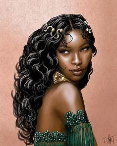 African girl magic black women art, black girl art, art of women, art girl, Black Girl Art, Black Women Art, Black Girls Rock, Art Girl, Art Of Women, African Girl, African American Art, African Beauty, Arte Black