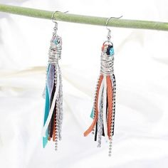 LB's Glamorous Secret revealed in a pair of  fabric earrings 10 $