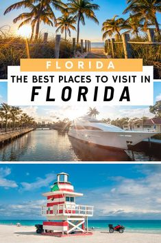 Looking for the Best places to visit in Florida for your vacation? Then we've got the best guide for best places to go in Florida. From the South Beaches in Miami to the waterways of Fort Lauderdale, the Venice of America; there are many cool places to vi Usa Travel Guide, Travel Usa, Travel Tips, Travel Abroad, Travel Ideas, Cool Places To Visit, Places To Travel, Travel Destinations, Best Places In Florida
