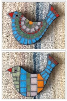 Best 12 Two birds from a set of three – SkillOfKing. Mosaic Garden Art, Mosaic Diy, Mosaic Crafts, Mosaic Projects, Stained Glass Projects, Mosaic Wall, Mosaic Glass, Mosaic Animals, Mosaic Birds
