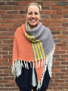 Patchwork and Stripes – Shawls to Knit using leftover yarn – 19 free patterns – Grandmother's Pattern Book