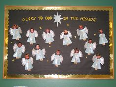 Made a heavenly host out of my preschoolers. Sweet lil Angels