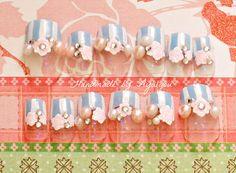 Lolita fairy kei fake nails pastel color Japanese nail by Aya1gou, $17.20