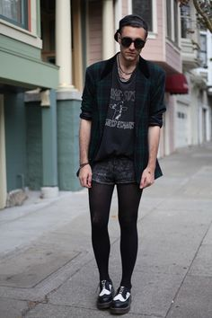Jared Ralys King in Black Opaque Mantyhose  Get Yours Here…