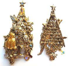 Kirks Folly Cat Christmas Tree Pin