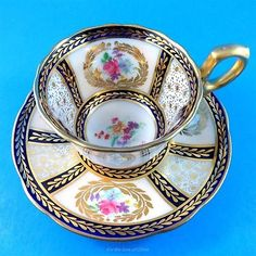 Signed-Reproduction-for-HM-Queen-Mary-Paragon-Demitasse-Tea-Cup-and-Saucer