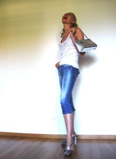 Top with Swarovskis: Mangano   Bag: Chanel   SHOES: NEW PRADA