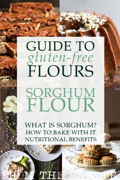 The Ultimate Guide to Sorghum Flour. As part of my on going series on Gluten-Free Flours we will be discovering what sorghum is, how sorghum flour is made, its nutritional benefits, the best way to use it in our baking and where to purchase it. Gluten Free Flour Mix, Gluten Free Baking, Vegan Baking, Vegan Gluten Free, Gluten Free Recipes, Keto Recipes, Dairy Free, Sorghum Flour, Sorghum Syrup