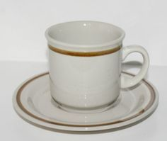 Mountain Wood Trellis Blossom Stoneware Cup Mug & Saucer Japan Brown Beige £2.50 each