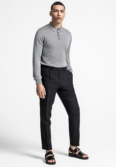 Oscar Jacobson Ruben Poloshirt L/S Black Jeans, Normcore, Pants, Style, Fashion, Trouser Pants, Swag, Moda, Fashion Styles