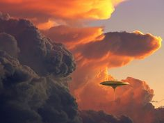 Cloud City of Bespin, as shown in The Empire Strikes Back. If I'm Lando, I'd open a Cafe Del Mar there.