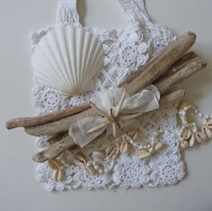 driftwood bundle with starfish  rustic nautical by beachcomberhome, $15.00