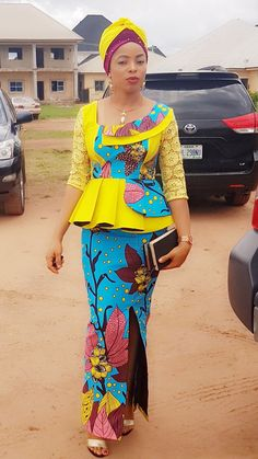 African Dresses For Women, African Wear, African Fashion, African Outfits, Ankara Long Gown Styles, Lace Dress Styles, African Print Clothing, Ankara Designs, Fashion Dresses