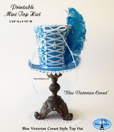 Hey, I found this really awesome Etsy listing at https://www.etsy.com/listing/274388366/aaartz-blue-mini-top-hat-alice-in