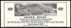 Crown Motel Ad Canton Ohio Radiant Heat TV Phone 1954 Roadside Photo Ad Travel